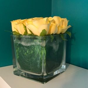 Other - FAUX FLOWERS IN VASE